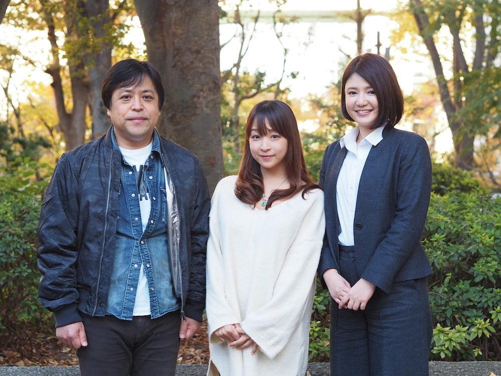 (左:tvgroove代表・清水裕一さん、中央:くぼたみかさん、右:芸人ネクスト・古崎瞳)